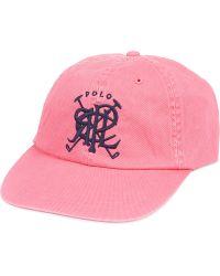 Ralph Lauren Classic Sport Cap Andover Pink W - Lyst