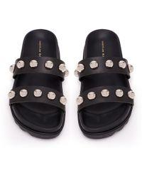 Loeffler Randall Zizzy Two Strap Sandal - Black