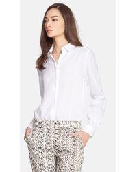 Max Mara Women'S 'Cicala' Linen Shirt - Lyst
