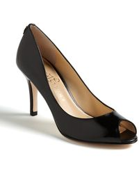 Ivanka Trump Cleo Peep-toe Court Shoes - Black