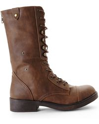 Madden Girl Brown Motor Boots - Lyst