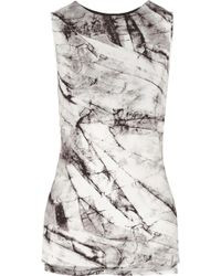 Helmut Lang Terrene Printed Stretch-Jersey Top - Lyst