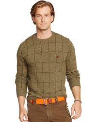 Polo Ralph Lauren Windowpane Crewneck Sweater - Lyst