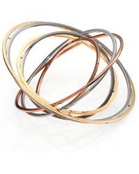 Delfina Delettrez Tourbillion Seven-Circle Bangle Bracelet - Lyst