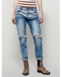 Free People | One Teaspoon Womens Awesome Destroyed Baggies | Lyst