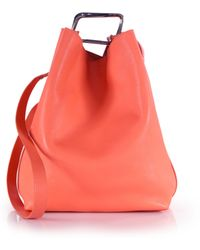 3.1 Phillip Lim Quill Bucket Bag red - Lyst