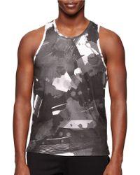 Calvin Klein Jersey Abstract Print Tank gray - Lyst