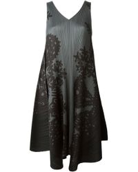 Pleats Please By Issey Miyake Printed A-line Dress - Lyst