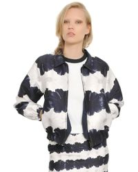 Mother Of Pearl Printed Cotton & Silk Bomber Jacket - Lyst