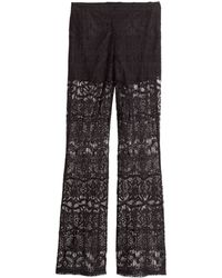 H&M Lace Trousers - Lyst