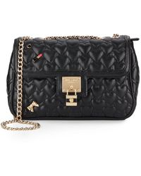 Betsey Johnson | Be My Baby Quilted Faux Leather Crossbody | Lyst