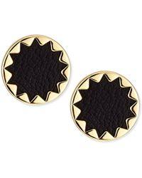 House Of Harlow 1960 Sunburst Leather Stud Earrings - Lyst