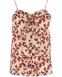 Oasis Butterfly Print Camisole Top - Multicolour