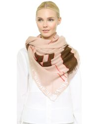 Maiyet Hand Paint Scarf - Light Pinkchocolatered - Lyst