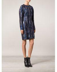 Stella McCartney Blue Print Dress - Lyst