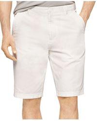 Calvin Klein Bedford Cord Slim-Fit Shorts white - Lyst