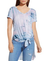 Two By Vince Camuto - Abstract Print High/low Tee - Lyst