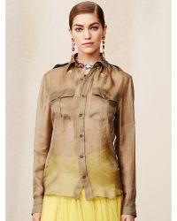 Ralph Lauren Silk Douglas Safari Shirt - Lyst