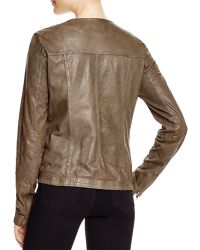 Moon & Meadow | Paperweight Leather Jacket | Lyst