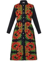 Tak.ori - Floral Intarsia-Knit Dress - Lyst