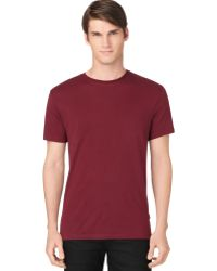 Calvin Klein Ribbed Side Tshirt - Lyst