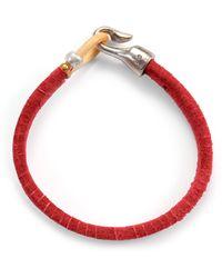 Lulu Frost G. Frost Harpoon Suede Bracelet Red - Lyst