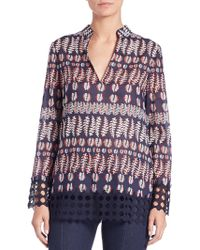 Tory Burch | Crochet-trimmed Tunic | Lyst