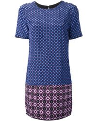 Victoria, Victoria Beckham Geometric Print Shift Dress - Lyst