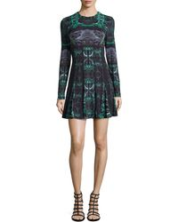 Nicole Miller Amber Force Field Fit-And-Flare Dress - Lyst