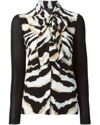 Gucci Zebra Print Blouse - Lyst