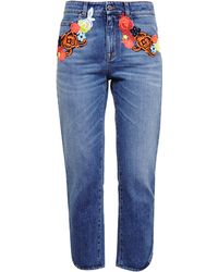 Christopher Kane Lace Detail Jeans - Lyst