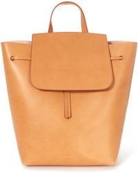Mansur Gavriel - Tan Cammello With Rosa Leather Backpack - Lyst