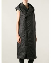 DRKSHDW by Rick Owens Sleeveless Hooded Coat - Lyst