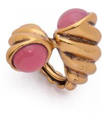 Oscar de la Renta Shell Ring - Hibiscus - Lyst