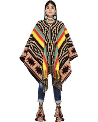 DSquared² Patterned Cotton-Blend Poncho - Natural