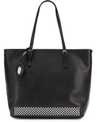 Furla Studded Leather Shoulder Bag - Lyst