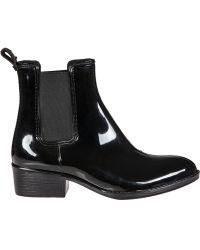 Jeffrey Campbell Stormy Rain Boot Black Rubber - Lyst