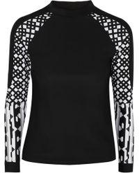 Peter Pilotto - Paneled Printed Swim Top - Lyst