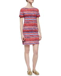 Tory Burch Short-Sleeve Striped T-Shirt Dress - Lyst