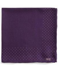 W.r.k. - Dot Wool & Silk Pocket Square - Purple - Lyst