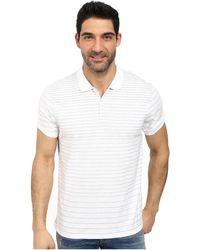 Calvin Klein Engineered Jersey Polo white - Lyst
