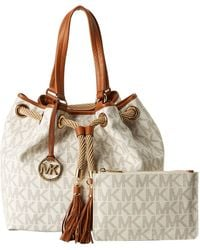 MICHAEL Michael Kors Marina Large Gathered Tote - Lyst