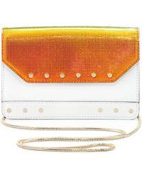 MILLY - Crosby Mini Iridescent Crossbody Bag White - Lyst