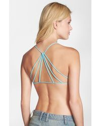Free People Seamless Strappy Back Bralette blue - Lyst