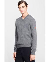 Comme des Garçons V-Neck Sweater - Lyst