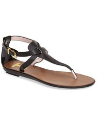 Ted Baker 'Alzase' Leather Thong Sandal - Lyst