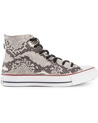 Converse White Hitop Trainer - Lyst
