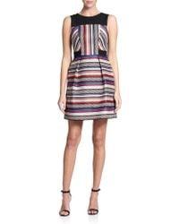 Shoshanna Fannon Striped Jacquard Dress - Lyst