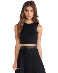 LaPina by David Helwani - Lapina Adrianne Crop Top - Lyst