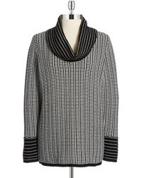 Calvin Klein Patterned Cowl Neck Sweater - Lyst